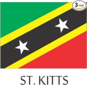 St. Kitts Flag Hard Hat Helmet Decals Stickers