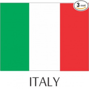 Italy Flag Hard Hat Helmet Decals Stickers