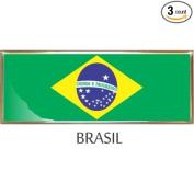 Brasil Flag Car Auto Trunk Fender Bumper Metal Emblem Badge