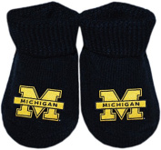 University of Michigan Wolverines NCAA Licenced Solid Coloured Newborn Baby Bootie Sock