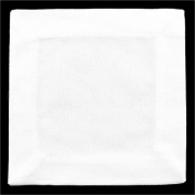 """12 Pack - CleverDelights White Cocktail Napkins - 100% Cotton Canvas - 6"""" x 6"""" - Heavyweight Coasters"""