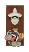 G. Francis Magnetic Beer Bottle Opener with Magnetic Cap Catcher in Dark Finish