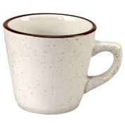 Vertex China CRV-1 Caravan Cup Tall, 7.6cm - 0.6cm , 330ml, American White with Brown Speckled