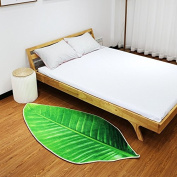 Creative anti slip carpet living room kitchen bedroom bed personality 3D print mat simulation leaf mat,Small code 100*50cm
