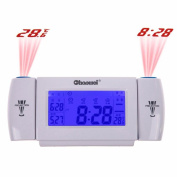 Led Adjustable Projection Alarm Clock Voice Activited/Clap Control LCD Backlight Time Temperature Projecting Clock with Calendar