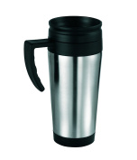 Gone Travelling RY509 Travel Mug with Screw Lid, 380 millilitres, Stainless Steel