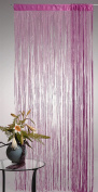 AYG Glitter String Curtain Panel (Rose Red) 100CM(Wide)x 200CM