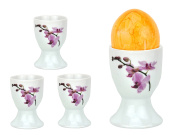 Van Well Set of 4 Egg Cups White 4.8 – Different Designs Available Kyoto Orchidee