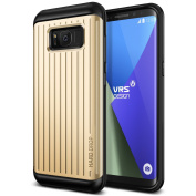 "Galaxy S8 Case, [Shine Gold] ""Made in Korea"" Natural Grip Dynamic Patterned Ultra Protective Cover [Hard Drop Waved] Premium Hybrid Material Layered Phone Case by VRS Design® for Samsung Galaxy S8"