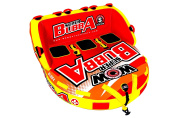 WoW World of Watersports, 17-1060 Super Bubba Hi Vis 1 - 3 Person Towable Deck Seat, Front and Back Tow Points