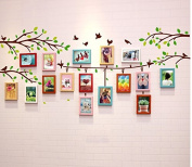 NAUY- 16 Frame Big Wall Photo Wall Wall Sticker Solid Wood Frame Combination DIY Wild Living Room Dining Room Bedroom Frame Wall