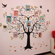 NAUY- 12 Frame Love Tree Solid Wood Photo Wall Office Decoration Photo Wall DIY Wild Living Room Dining Room Bedroom Frame Wall