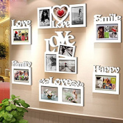 NAUY- Combination Of Wooden Frame Wall White Creative Ornaments Couple Of Children According To Wooden Frame Photoframe DIY Wild Living Room Dining Room Bedroom Frame Wall