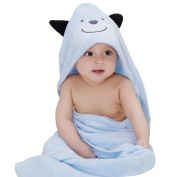 Biubee Baby Bamboo Hooded Towel (80*80cm) - Organic, Hypoallergenic, Soft Bath Towel for Infant to Toddler