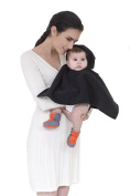 Soft MHUG Poncho, essential for the colder months of the year, it slips on and off quickly and easily, Black