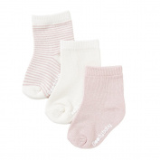 Socks, Chalk/Rose, 6-12 mths