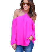 ZYooh Women Off Shoulder Casual Blouse,sexy Long Sleeve Pullover Strapless T Shirt Cute Fashion Irregular Top