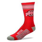 For Bare Feet NCAA 4 Stripe Deuce Crew Youth Socks