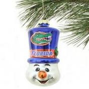 NCAA Licenced Blown Glass Top Hat Snowman Ornament