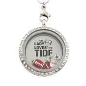 College Football 30 mm Floating Charm Locket on 30 inch Necklace - Pick Your Favourite Team!