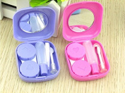 Yeah67886 Easy to Carry Small Contact Lens Case Travel Kit Case