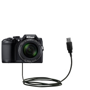 Hot Sync and Charge Straight USB cable Compatible with Nikon Coolpix B700 - Charge and Data Sync with the same cable. Built with Gomadic TipExchange Technology