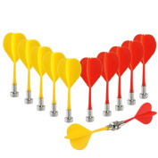 IFY 12pcs Replacement Durable Safe Plastic Wing Magnetic Darts Bullseye Target Game Toys