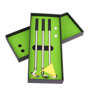 UEB Mini Golf Clubs Models Ball Pen Golf Balls Flag Set Gift Three Colours for Toys Present Decoration 3 PCS