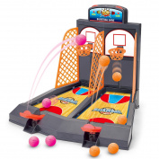 BonyTek Mini Table Desktop Basketball Shooting Game 2-Player Basketball Arcade Games Shootout with Score Fun Activity Development Toys Set for Kids Children Boys Girls Adults