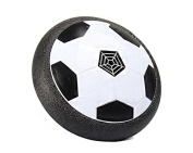 MiluoTech Air Power Soccer Disc, Pneumatic Suspended Football with Foam Bumpers and LED Lights, Hover Disc Gliding Ball Disc Toy for Indoor and Outdoor