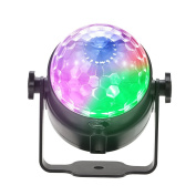 Docooler Mini Disco DJ Stage Lights 8W Sound Actived Crystal Magic Rotating Ball Lights RGBP Magic Ball Lamp For KTV Xmas Party Wedding Show Club Pub Colour Changing Lighting