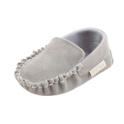 EKIMI Baby Girls Double Velour Soft Sole Shoe Soft Shoes Flats Shoes