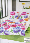 """'Brand Sseller Cotton/Polyester Pillow and Duvet Bedding Set Duvet Cover Set """"Flower – with zip fastening – Available in Different Colours, cotton blend, Floral pattern, 80 x 80 und 135 x 200 cm"""
