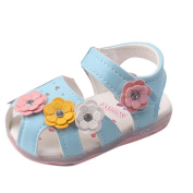 FALAIDUO 2017 Toddler Flowers Girls Sandals Lighted Soft-Soled Princess Baby Shoes