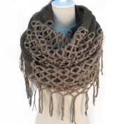 Winter Warm Crochet Knit Long Tassels Soft Wrap Shawl Scarves Scarf Two Styles Infinity and Straight