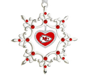 Shiny Silver Snowflake Ornament Sporting your Teams Colours