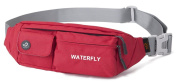 WATERFLY Waist Bag Pack Slim Water Resistant Fanny Pack Travel Bum Bag Running Belt for Travelling Cycling Hiking Camping