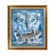 Logres 5D Diamond Painting Wolf Embroidery Cross Stitch DIY Art Craft Home Wall Decor