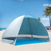 【Big size】G4Free Outdoor Automatic Pop up Instant Portable Cabana Family Beach Tent Sun Shelter UPF 50+