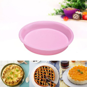 Iuhan Round Silicone Cake Mould Pan Muffin Candy Bread Pizza Baking BakewareTray Baking Pan