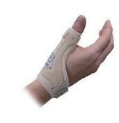 Medically Approved - 'Deluxe' Thumb and Wrist Support, Spica - Ideal for Thumb Injuries, Carpal Tunnel Syndrome, Arthritis, Thumb Tendinitis, Rhizarthrosis of the Thumb. Available in 2 Sizes & 2 Colours, Fits both Left and Right (Large - Extra Large Be ..