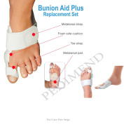 PEDIMEND Medical HINGED Bunion Pain Relief Splint Support (Single) with Flexible Bunion Splint - Bunion Pads / Toe Straightener / Protector / For Hallux Valgus / Crooked Toes / Hammer toe / Metatarsalgia/ Adjustable Compression Strap / Toe Spacers / To ..