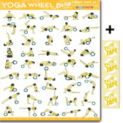 Eazy How To Yoga Wheel Exercise Workout Poster BIG 70cm X 50cm Train Endurance, Tone, Build Strength & Muscle Home Gym Chart
