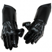 Undead Mediaeval Conquest Armour Gauntlets of Dexterity Night Warrior Black - 18G Functional Carbon Steel