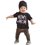 WensLTD Baby Clothing! 1Set Baby Boy Letter T shirt Tops Camouflage Pants Outfits