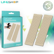 LifeShop Cellulift Taping Thigh Shaper Great For Workout And Toned Shape Build Easy Breathing Material For Extra Comfort Under Regular Clothing 2 Pack