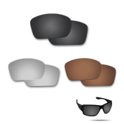 Fiskr Anti-saltwater Polarised Replacement Lenses for Oakley Big Taco 3 pair pack