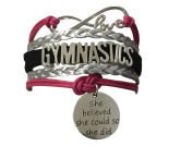Gymnastics Bracelet- Girls Gymnastics Bracelet- Gymnastics Jewellery - Perfect Gift For Gymnast, Gymnastic Coaches & Teams