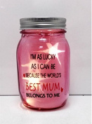 Best Mum Jar 8x13.5cm L-1703