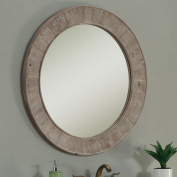 InFurniture WK1812 (round mirror) Solid Recycled Fir Mirror (Round) Solid Recycled Fir Mirror, Driftwood
